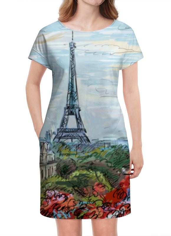 Платье летнее Printio Эйфелева башня макет эйфелевой башни спб