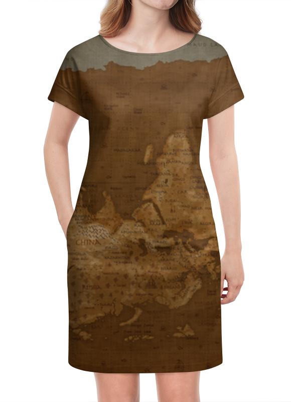 Платье летнее Printio Карта мира платье летнее в москве