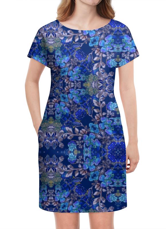 Платье летнее Printio Красивый растительный цветочный орнамент, паттерн плакат a3 29 7x42 printio яркий красивый модный гелакси дизайн паттерн
