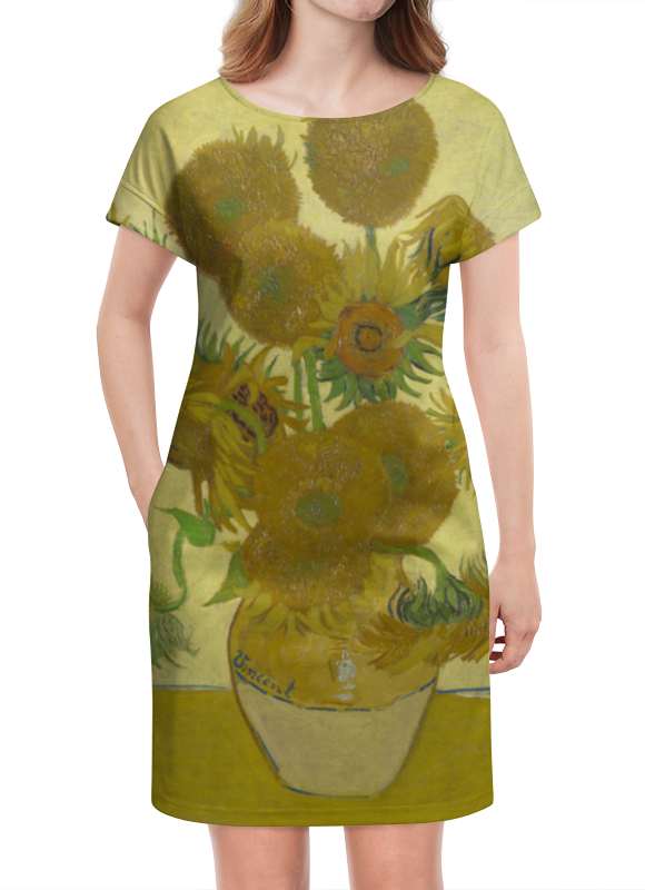 Платье летнее Printio Подсолнухи (винсент ван гог) ван гог artnote mini подсолнухи
