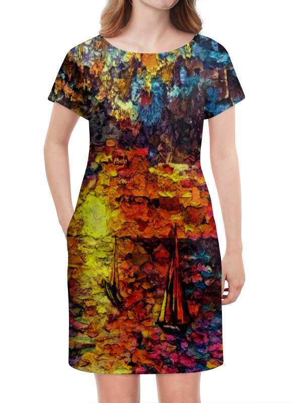 Платье летнее Printio Корабли платье летнее printio пересечение