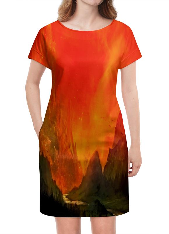 Платье летнее Printio Пламенный закат платье без рукавов printio пламенный