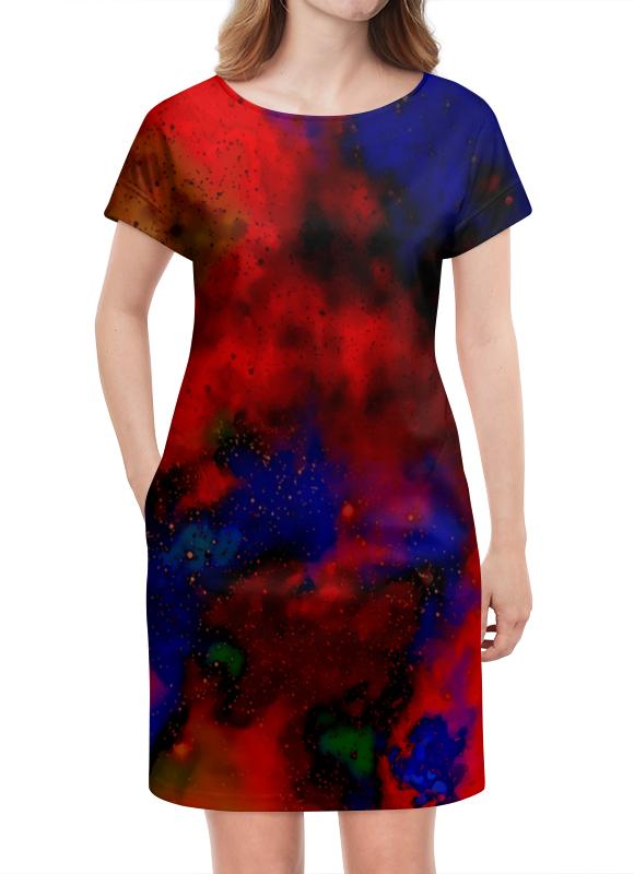 Платье летнее Printio Красно-синий узор stark tanuki 12 бело красно синий