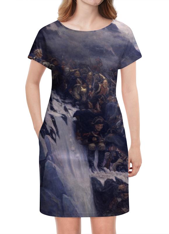 Платье летнее Printio Переход суворова через альпы (в. и. суриков) рюкзак с полной запечаткой printio переход суворова через альпы в и суриков