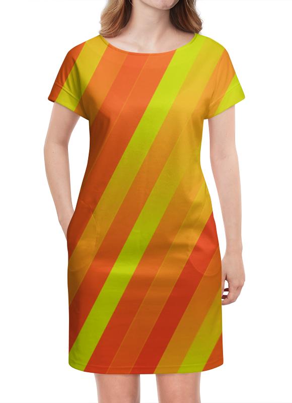 Платье летнее Printio Желто-оранжевые линии