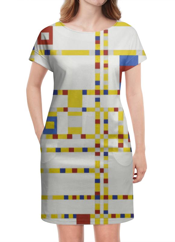 Платье летнее Printio Бродвей буги-вуги (питер мондриан) чехол для samsung galaxy s5 printio бродвей буги вуги питер мондриан