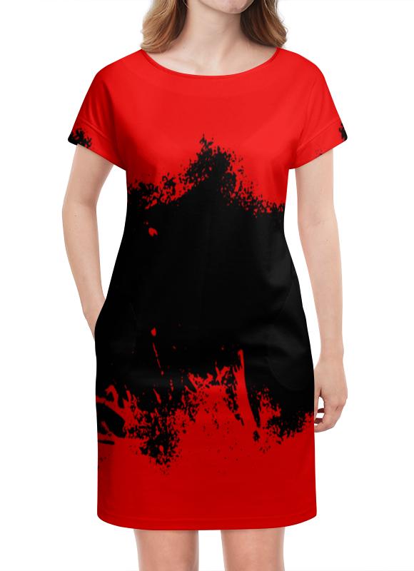 Платье летнее Printio Черно-красные краски