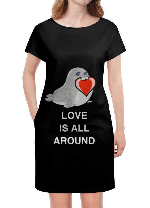 Платье летнее Printio Love. тюлень. любовь.