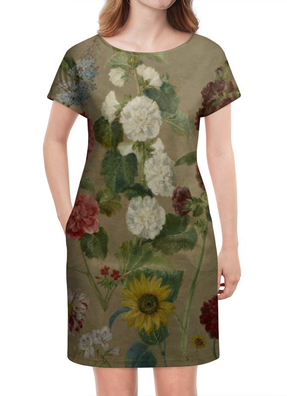 Платье летнее Printio Цветы (эжен делакруа)