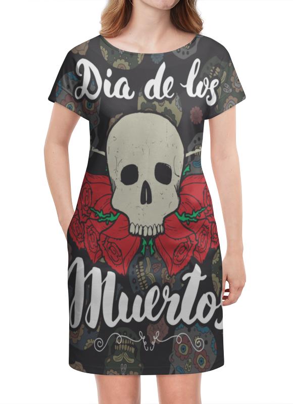 Платье летнее Printio Día de muertos festival bue día 2 gorillaz