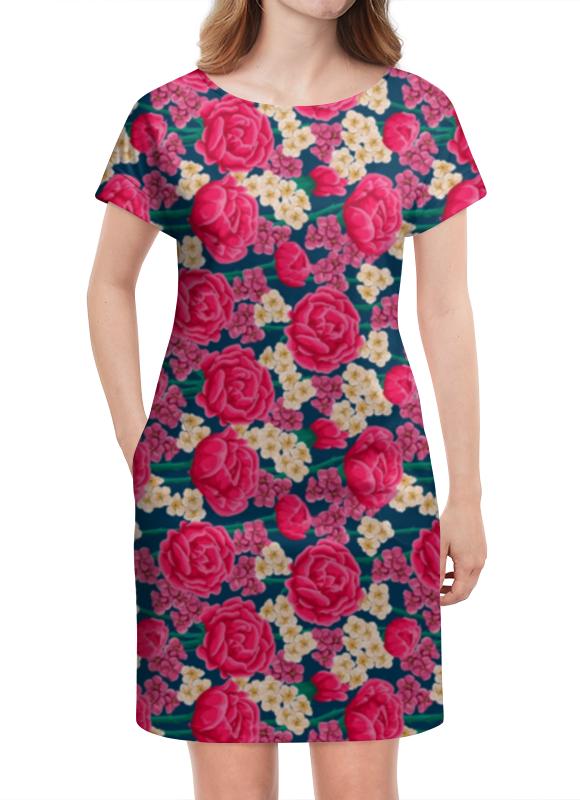 Платье летнее Printio Цветочный узор платье летнее printio мечты о любви