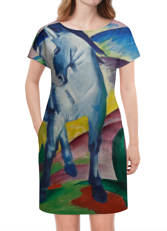 Платье летнее Printio Синий конь (франц марк) марк кропивницкий по ревизии водевиль