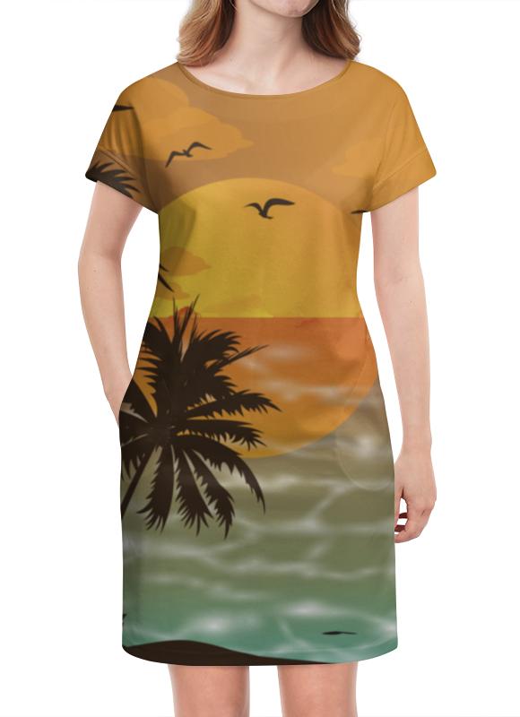 Платье летнее Printio Закат платье летнее printio березка