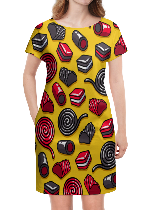 Платье летнее Printio Конфетки костюм снегурочки конфетки 40 44