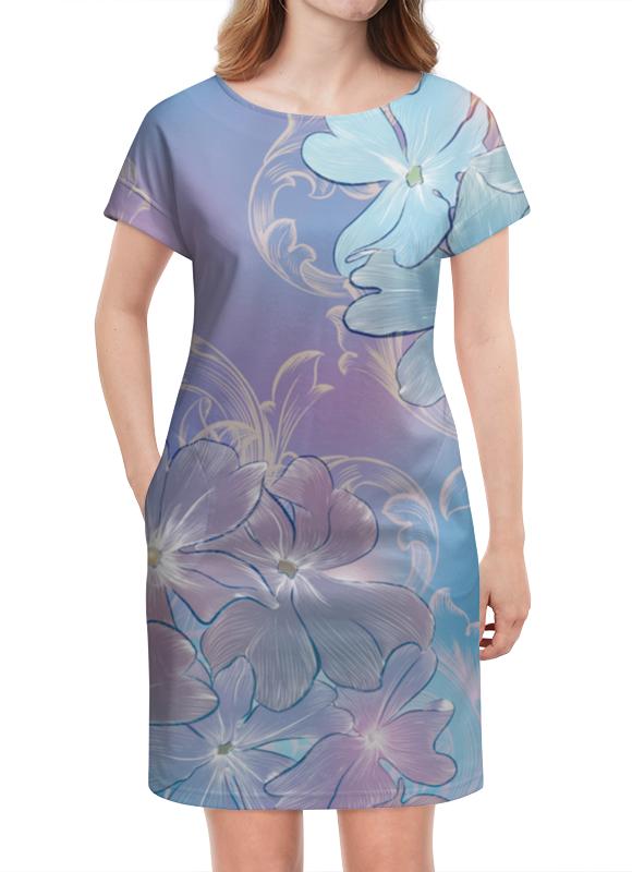 Платье летнее Printio Нежные цветы куртка голубого цвета brums ут 00008775