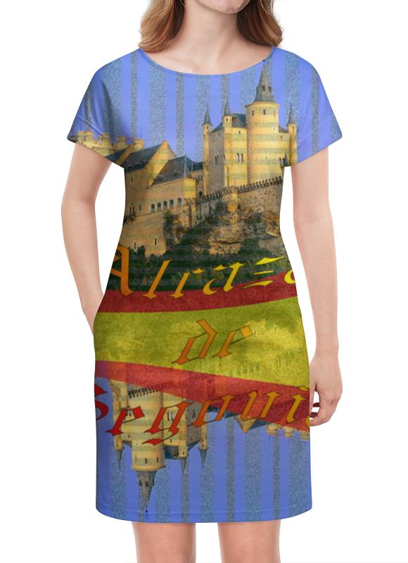 Платье летнее Printio Средневековой испанский замок сеговия. deroace велосипедный цепной стальной замок для электрокара электро мотороллера мотора