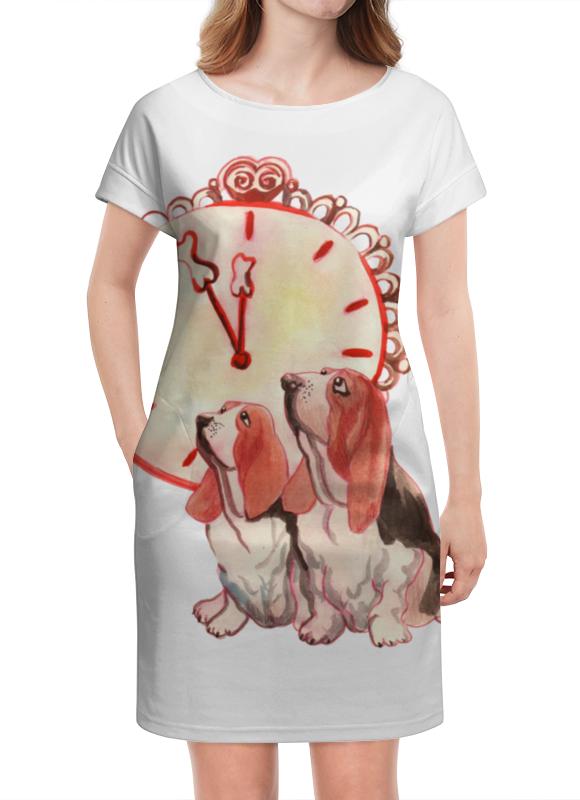Платье летнее Printio Новогодние акварельные собаки платье с рукавами printio новый год