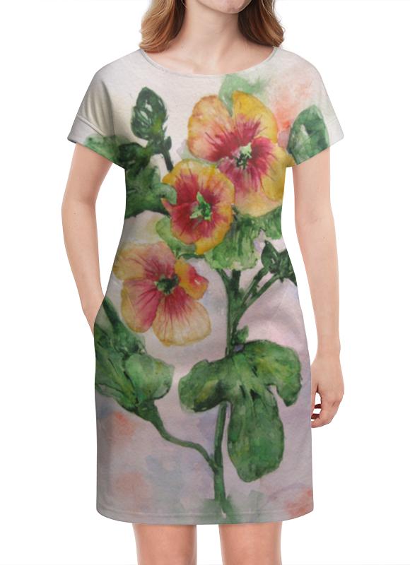 Платье летнее Printio Солнечная мальва платье летнее printio мечты о любви