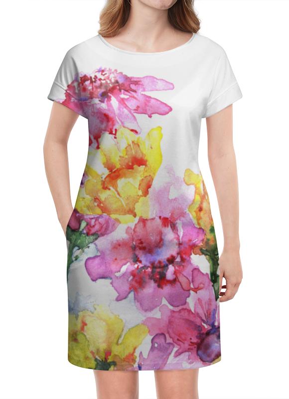 Платье летнее Printio Хризантемы татьяна шпинькова белые хризантемы