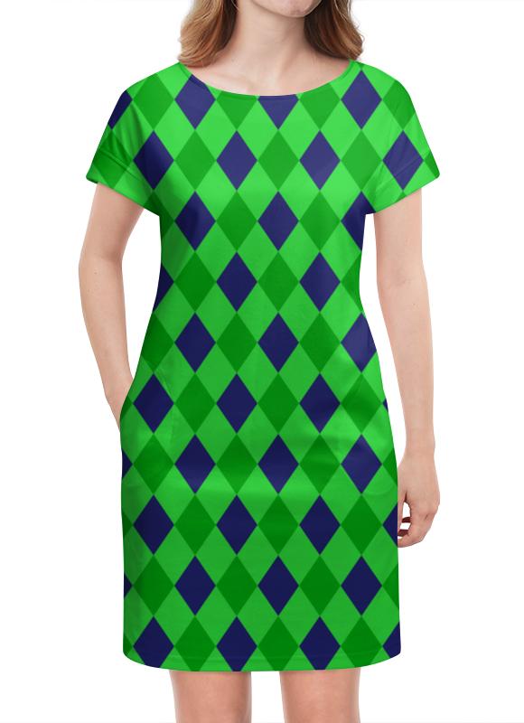 Платье летнее Printio Сине-зеленые квадраты платье с рукавами printio сине зеленые квадраты