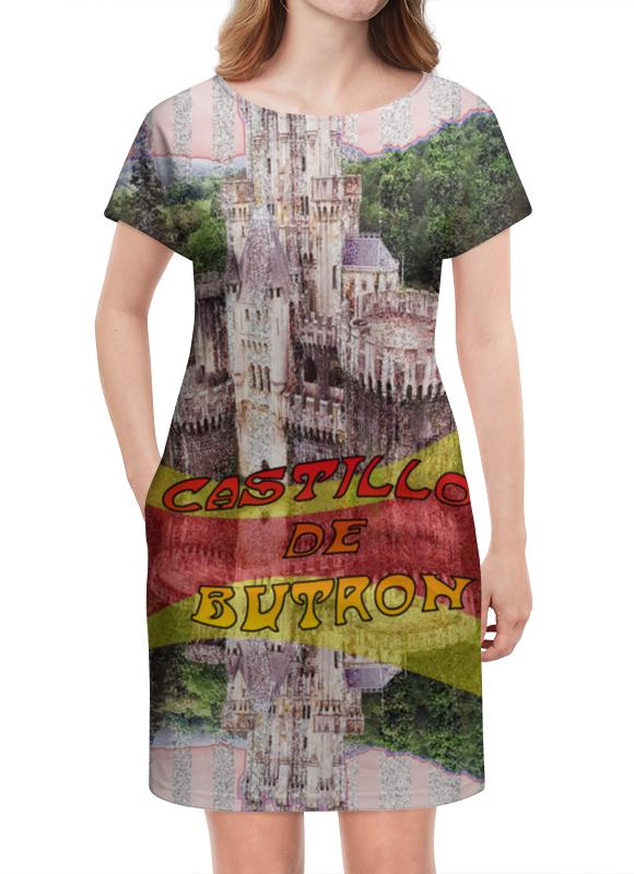 Платье летнее Printio Замки испании. замок бутрон deroace велосипедный цепной стальной замок для электрокара электро мотороллера мотора