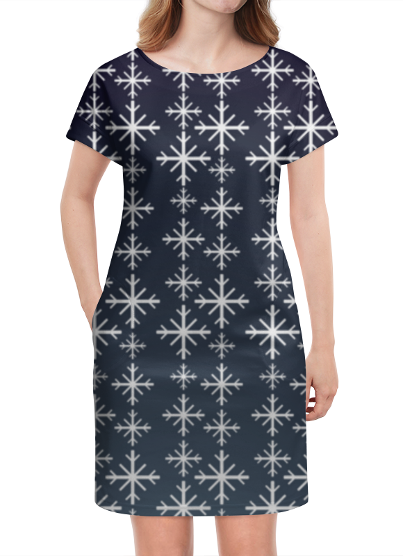 Платье летнее Printio Снежинки