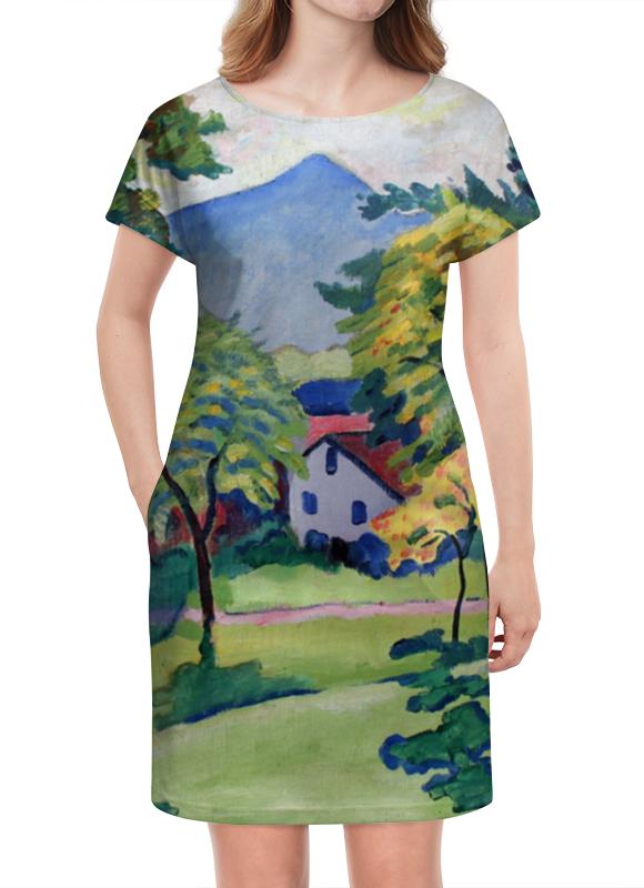 Платье летнее Printio Пейзаж в тегернзее (август маке) платье без рукавов printio парусник в тегернзее август маке