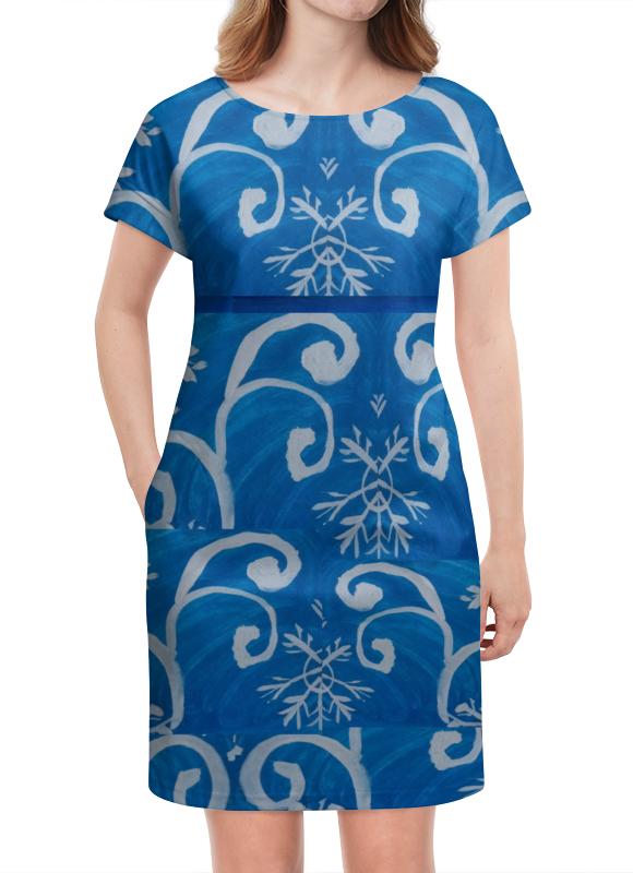 Платье летнее Printio Снежинки зимняя резина на оку в москве