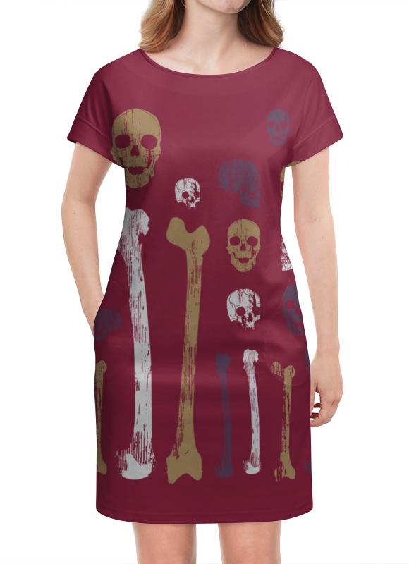 Платье летнее Printio Старые черепа и кости коллекция костей черепа бедуайер де ла к clever