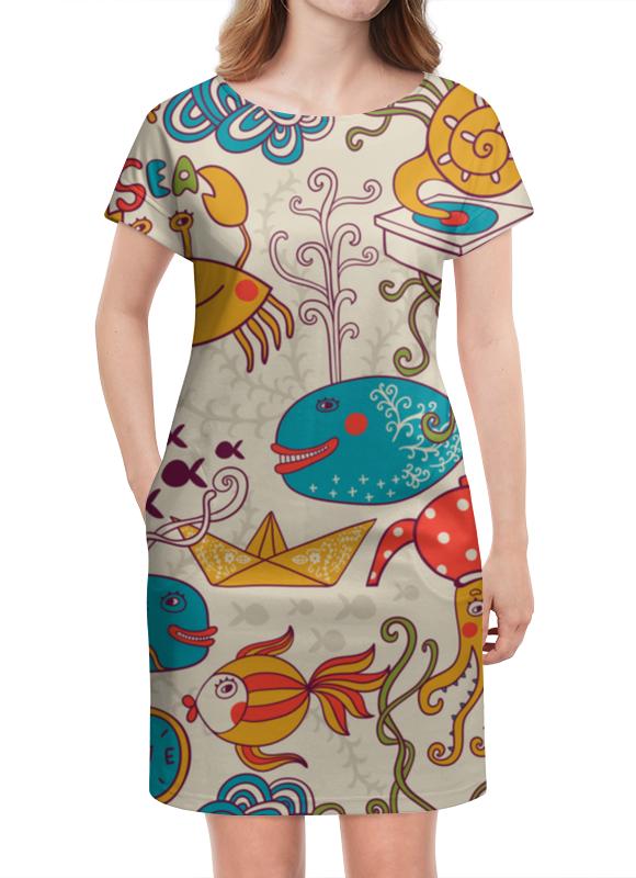 Платье летнее Printio Морские обитатели луч морские обитатели