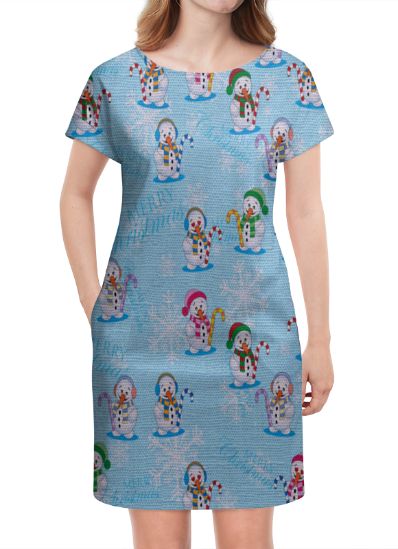Платье летнее Printio Снеговики кружка printio снеговики