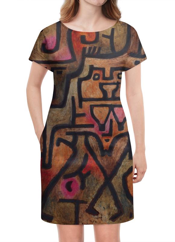Платье летнее Printio Лесные ведьмы (пауль клее) чехол для samsung galaxy s5 printio лесные ведьмы пауль клее