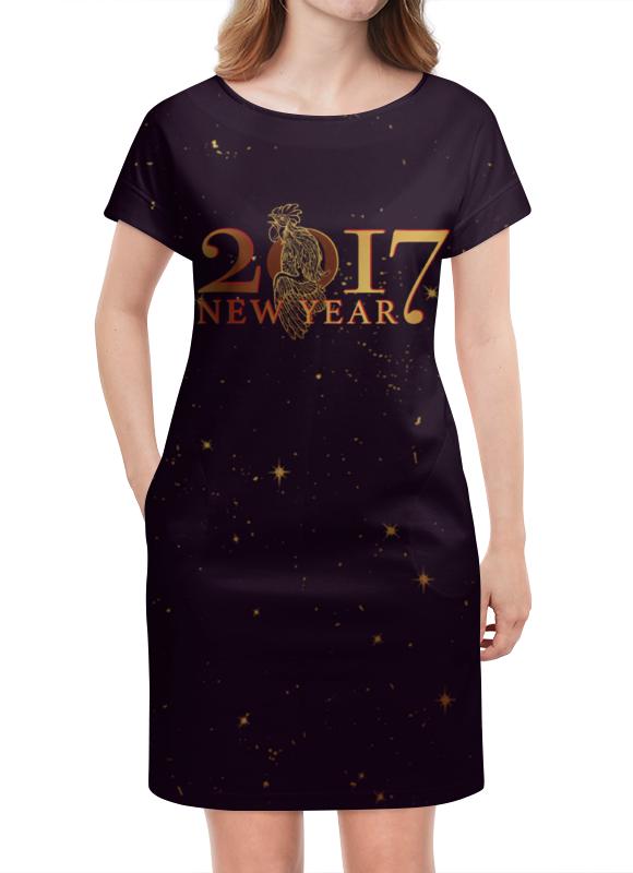 Платье летнее Printio Новый год 2017 платье на новый год хххl