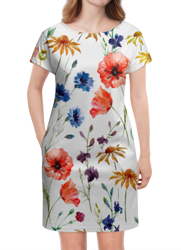 Платье летнее Printio Полевые цветы