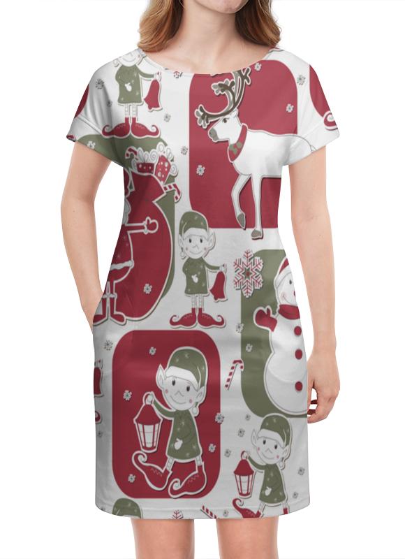 Платье летнее Printio Эльф и олени