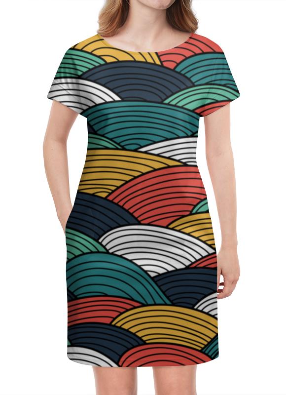 Платье летнее Printio Цветные волны
