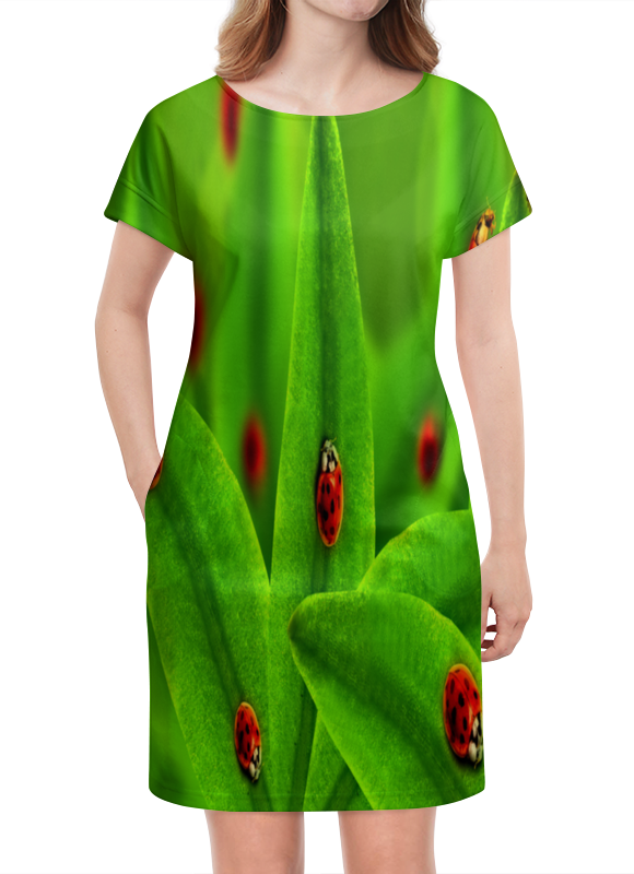 Платье летнее Printio Божьи коровки настольная игра веселые гонки и божьи коровки
