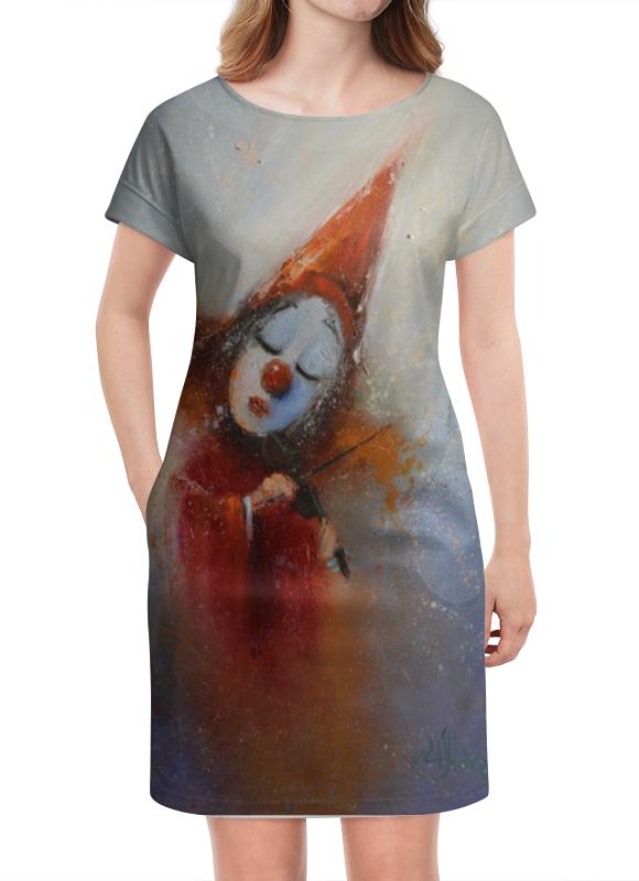 Платье летнее Printio Клоун статуэтка клоун с собачкой 935660