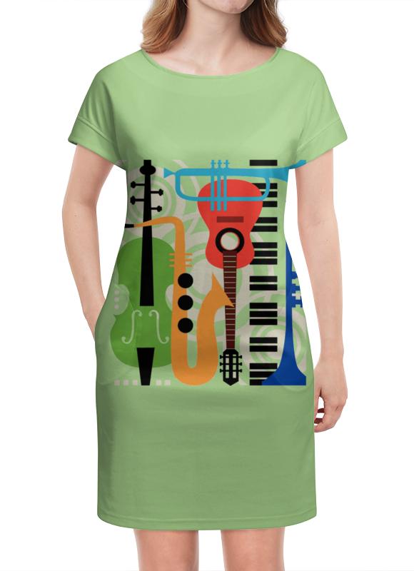 Платье летнее Printio Музыкальные инструменты