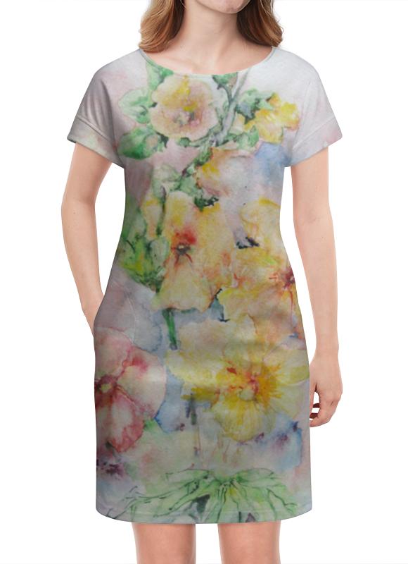 Платье летнее Printio Мальва. букет платье летнее printio мечты о любви
