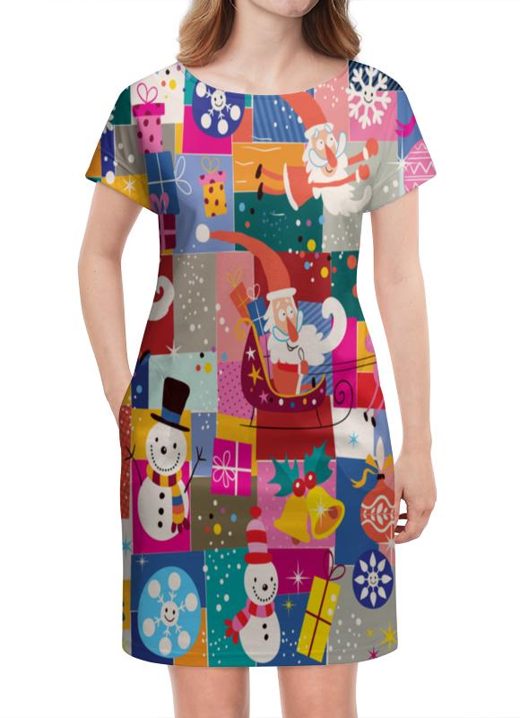 Платье летнее Printio Санта и подарки сумка printio подарки