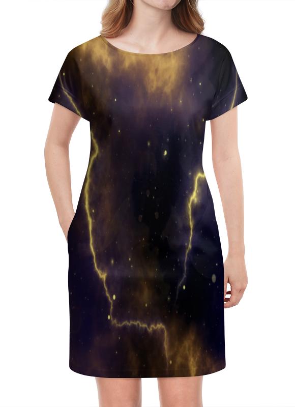 Платье летнее Printio Молния полотенцесушитель ника mix 60х60 водяной вираж 60 60