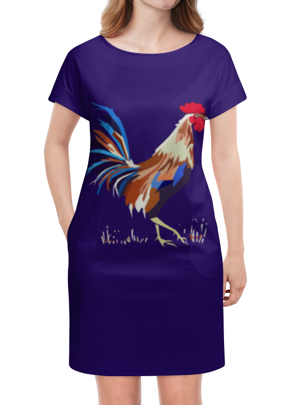 Платье летнее Printio Новый год петуха платье с рукавами printio новый год