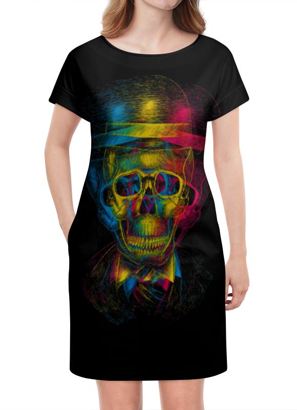 Платье летнее Printio Разноцветный череп