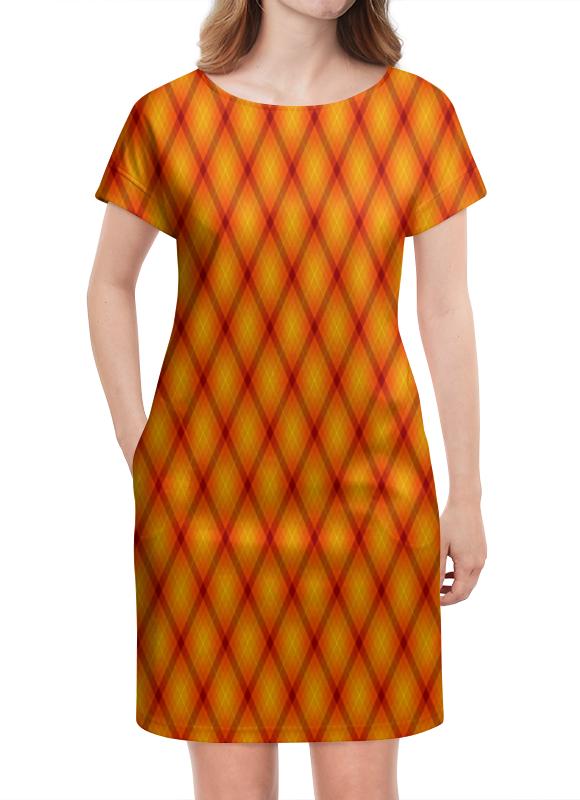 Платье летнее Printio Клетка оранжевая