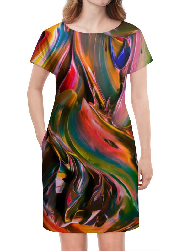 Платье летнее Printio Смесь красок смесь ненни харьков дешевле