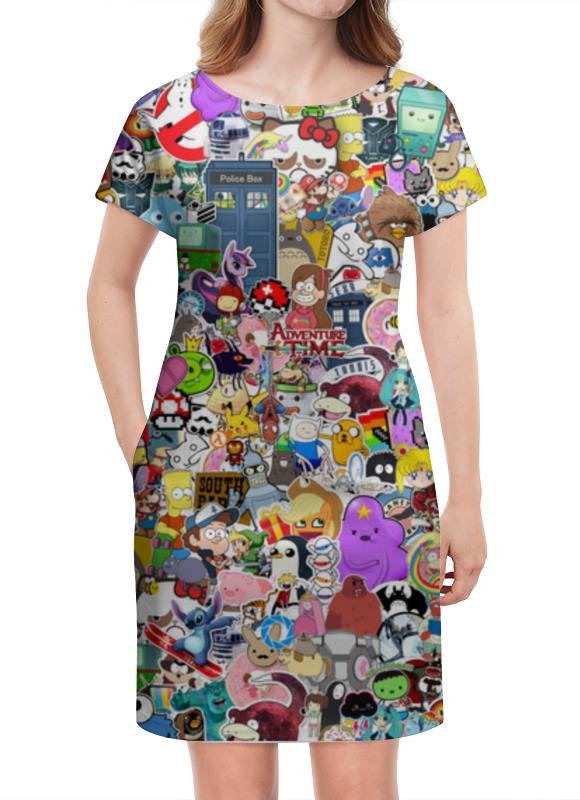 Платье летнее Printio Stickers платье летнее printio березка