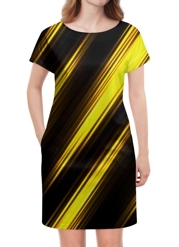 Платье летнее Printio Желтые полосы