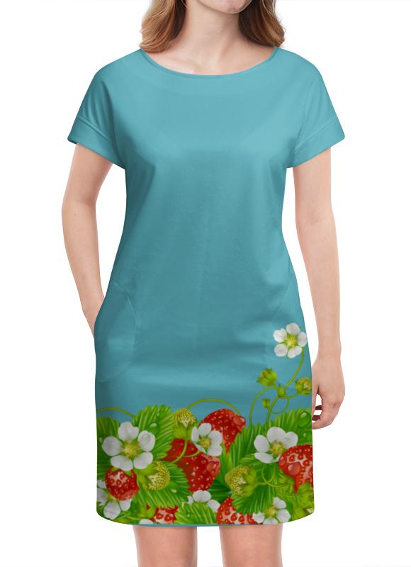 где купить Платье летнее Printio Земляничная поляна по лучшей цене