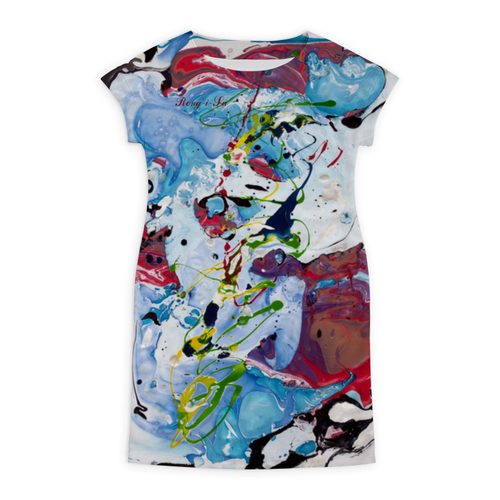 """Платье летнее """"Ренг-и-су. Мелодия в бордовом"""" - авторский дизайн, современное искусство, ренг-и-су, неповторимый узор, елена благославова"""